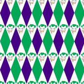 Joker Green Purple Diamond Harlequin