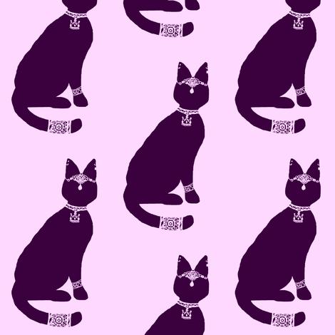 Block Print - Regal Cat fabric by mmarie-designs on Spoonflower - custom fabric
