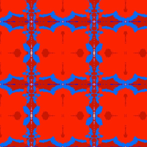 Red and Blue Crystal Abstract