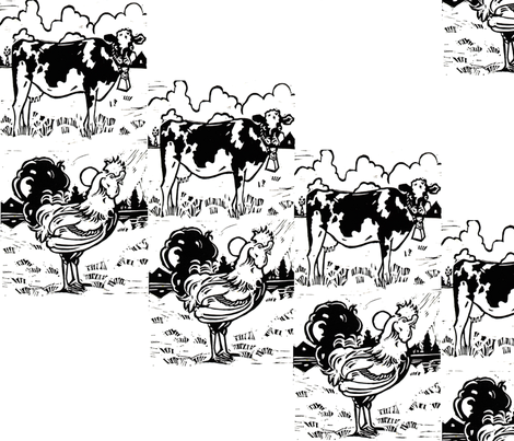 barnyard-block-print9x9 fabric by julistyle on Spoonflower - custom fabric