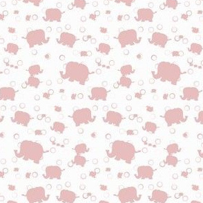 Elephant Parade (Pink Silhouette Variant)