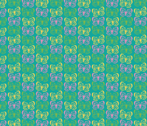 Spring Butterfly fabric by megancarroll on Spoonflower - custom fabric
