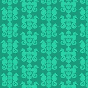 Seahorse Luau - Caribbean Green