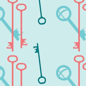 Keys - Keybound - Pink and Aqua 2