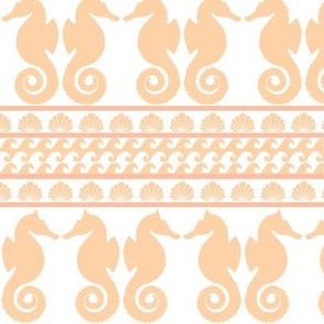 Seahorse Mural - Tropical Peach