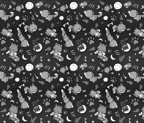 BabyWerewolfBWFinal fabric by thebleepbloopshop on Spoonflower - custom fabric