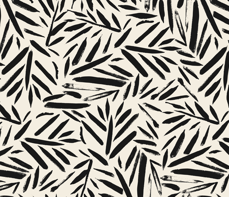 Not So Black and White Leaves fabric by crystal_walen on Spoonflower - custom fabric