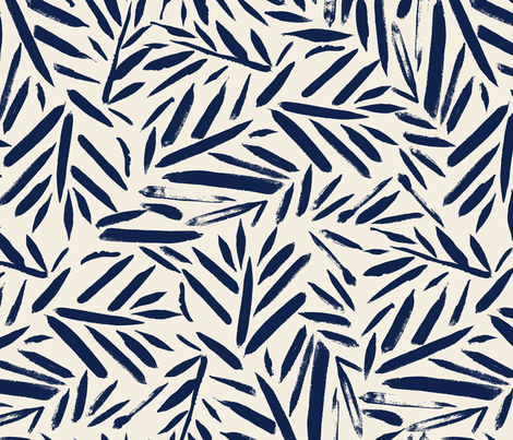 Navy Leaves fabric by crystal_walen on Spoonflower - custom fabric