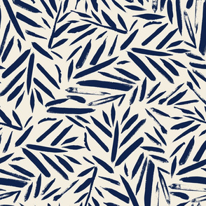 Navy Brush Leaves