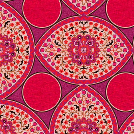 Persian Cartouches 1b fabric by muhlenkott on Spoonflower - custom fabric
