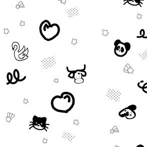 Black and White Animals!