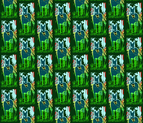 Burro in the Jungle - Green fabric by sizemode on Spoonflower - custom fabric