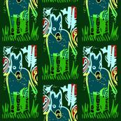 Burro in the Jungle - Green