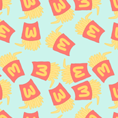 Fries Pastel Kawaii Green