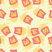 Fries Pastel Kawaii Yellow