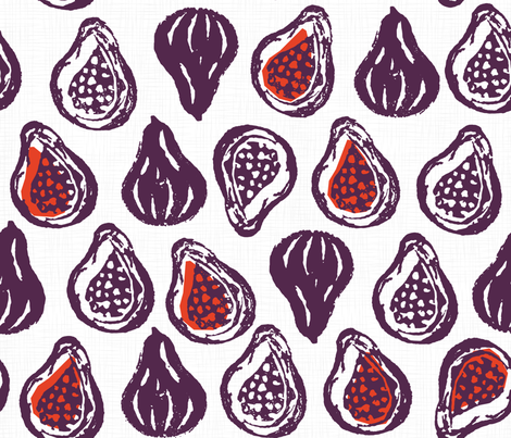 Figgy delishiousness - Purple fabric by pinky_wittingslow on Spoonflower - custom fabric