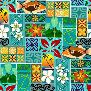 Hawaiian block pattern 001