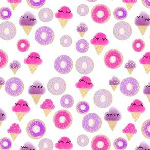 Donut ice cream lashes