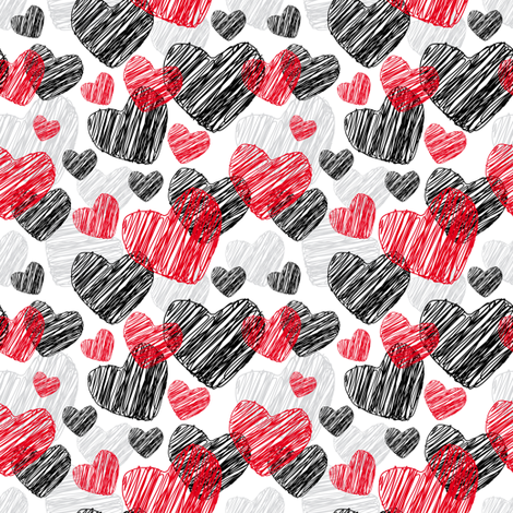 Funny pattern with hearts  fabric by ekaterinap on Spoonflower - custom fabric