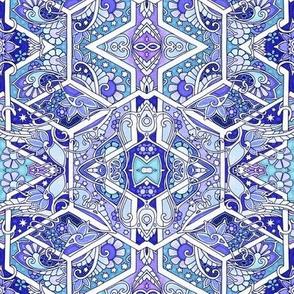 Twinkle Starred Hexagon Blues