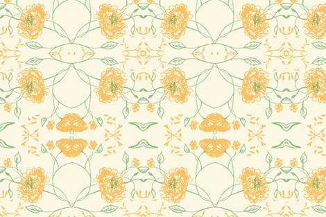 Yellow_green_flowers_of_remembrace fabric by jennifer_rizzo on Spoonflower - custom fabric
