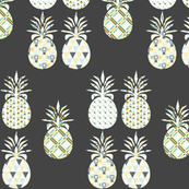 Spring Pineapple on Grey