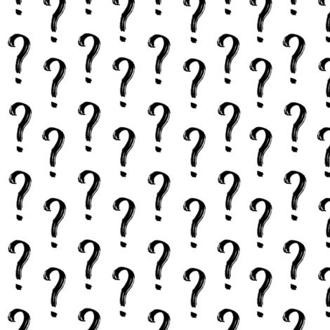 Question Mark Pattern fabric by mariamsol on Spoonflower - custom fabric