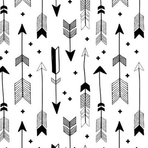 indian summer scandinavian style illustration arrows and geometric crosses gender neutral black and white