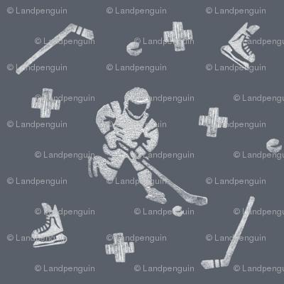 Hockey on Dark Blue