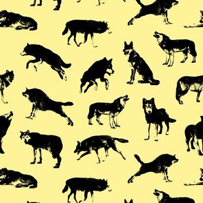 Wolves on Canary Yellow // Small-size