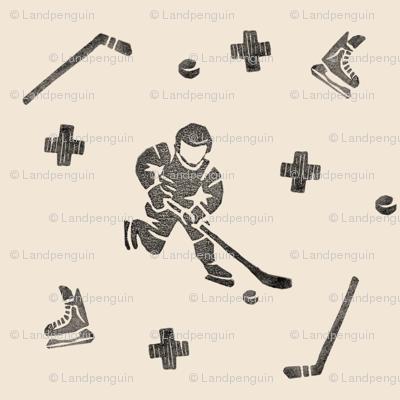 Hockey on Beige