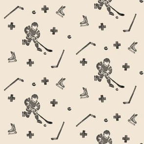Hockey on Beige