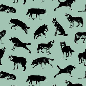 Wolves on Shadow Green // Small-size