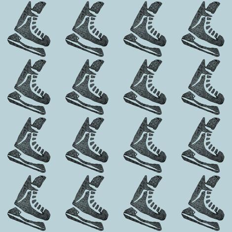 Light Blue Hockey Skates fabric by landpenguin on Spoonflower - custom fabric