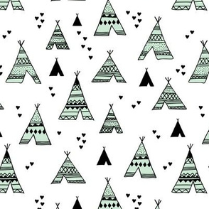 Cool scandinavian camping teepee love soft pastel geometric tent aztec indian summer mint