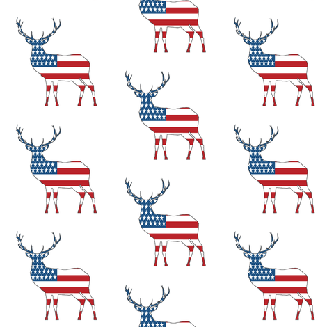 American Deer // Small fabric by thinlinetextiles on Spoonflower - custom fabric