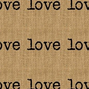 Love on Burlap