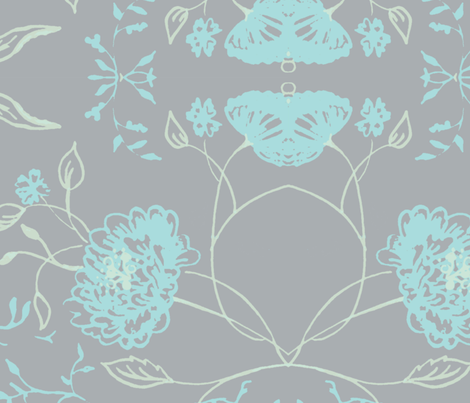 light_gray_flowers_of_remembrance fabric by jennifer_rizzo on Spoonflower - custom fabric