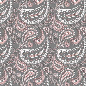 Paisley Doodle (Pink & Grey)