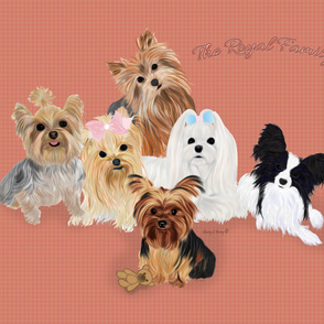 Yorkie Royal Family & Friends Quilt Panel
