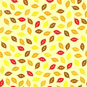 Dean's Block Print Leaves ~ Autumn