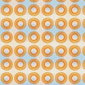 Spirograph orange