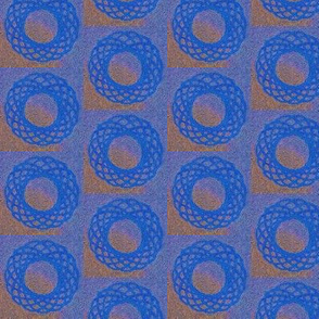 Spirograph blue