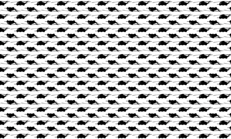 CH53 Helicopters in black offset pattern with white background fabric by thread_sa on Spoonflower - custom fabric