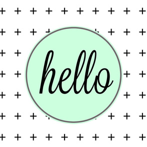 Pillow Cover - Cut & Sew Hello Mint