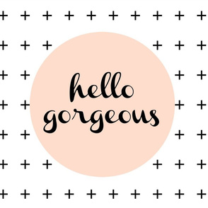 Pillow Cover - Cut & Sew Hello Gorgeous Coral
