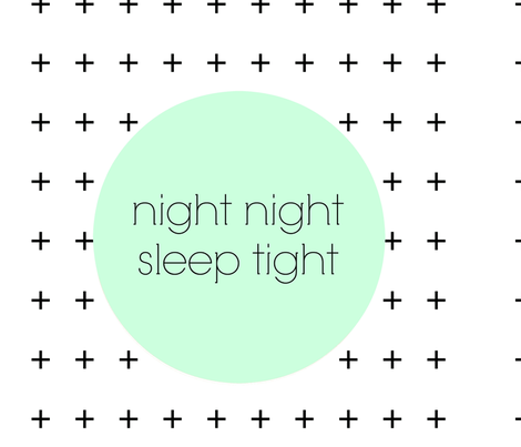 Pillow Cover - Cut & Sew Night Night fabric by tycdesignco on Spoonflower - custom fabric