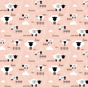 Counting Sheep // peach