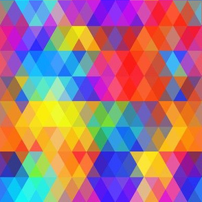 Abstract bright colored rhombus. Geometric rainbow color