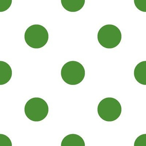 Dark Green Polka Dots